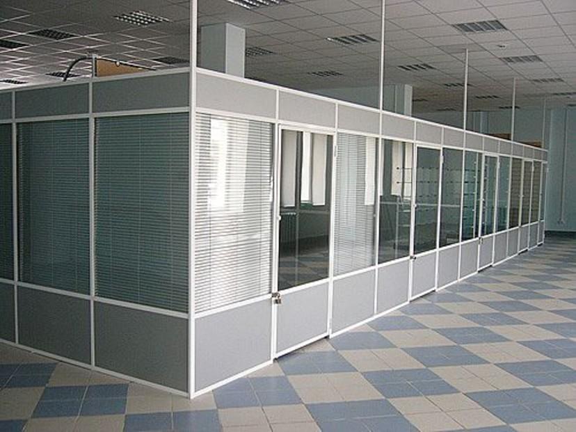Алюминиевые офисные перегородки фото