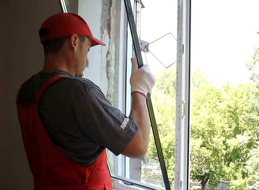 замена стеклопакета в окне ПВХ